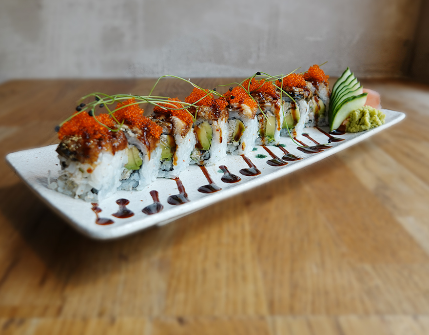 Grilled Eel Dragon Roll